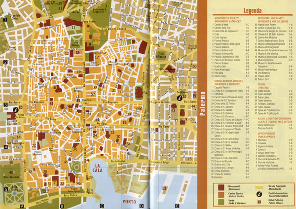 Palermo Tourist Map
