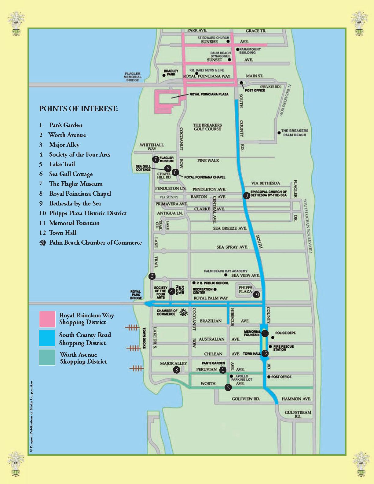 Map Of Palm Beach Florida.Palm Beach Tourist Map Palm Beach Mappery