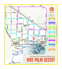 Palm Desert Biking Map