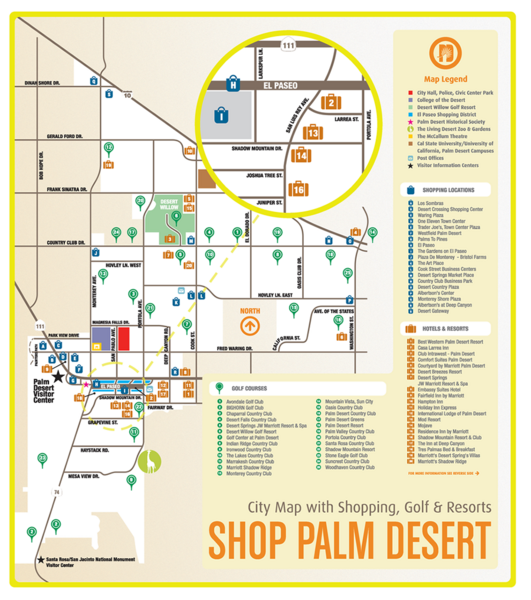 Palm Desert Shopping Map