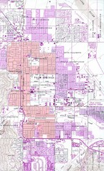 Palm Springs California City Map