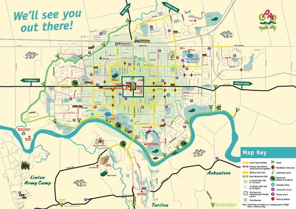 Palmerston North New Zealand  city photos : Palmerston North Cycling Guide Map Palmerston North New Zealand ...