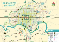 Palmerston North Cycling Guide Map