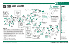 Palo Duro, Texas State Park Facility and Trail Map