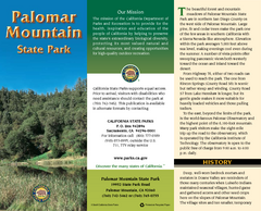 Palomar Mountain State Park Map