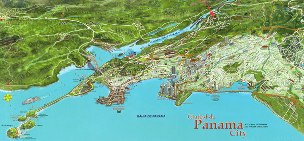 Panama maps mappery – Panama City Tourist Map