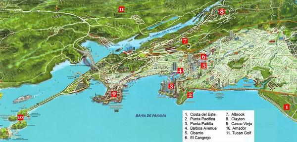Panama maps • mappery