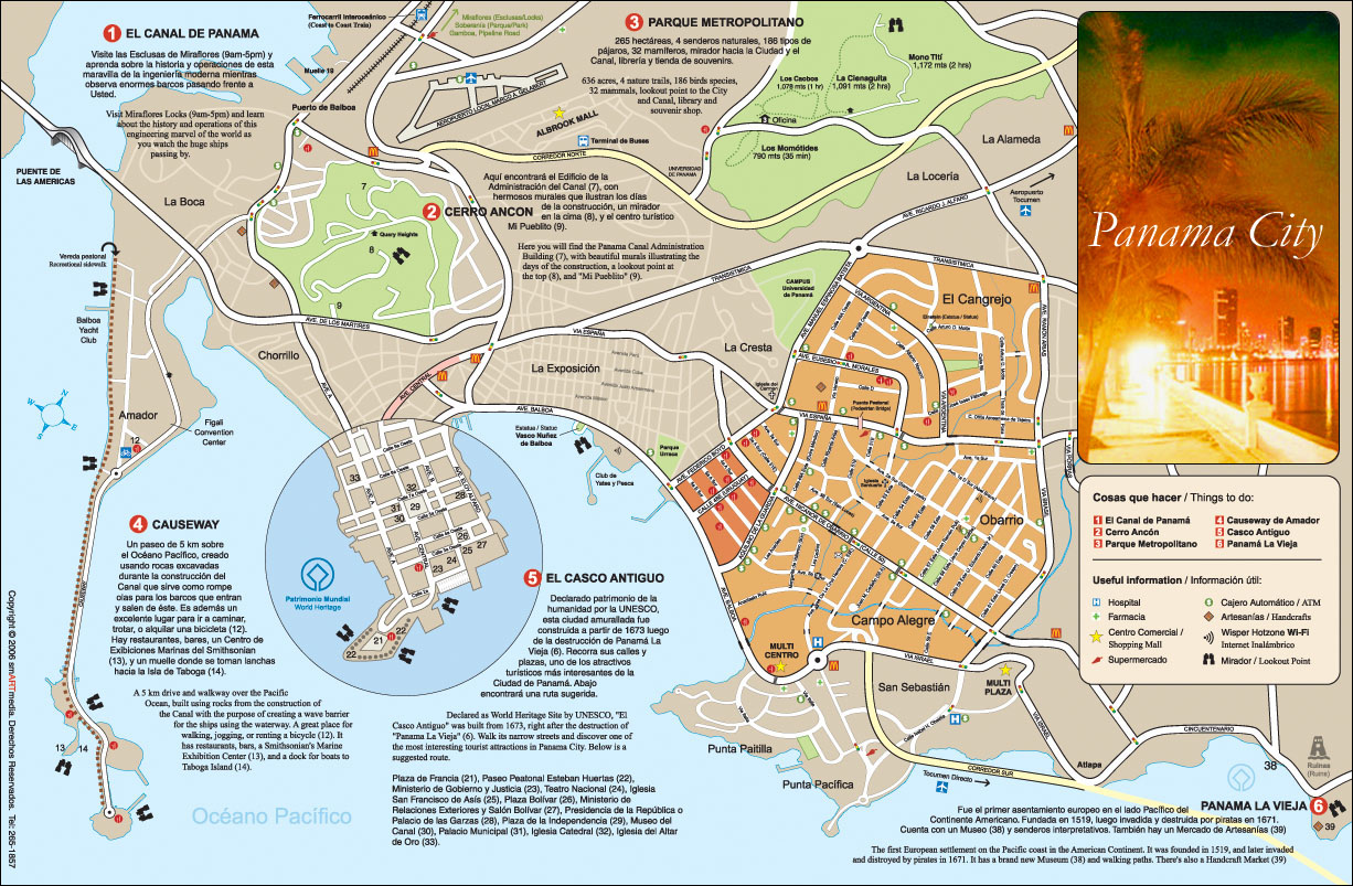 Panama City Map Panama City Panama mappery