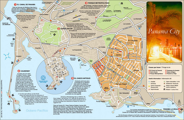 {Panama maps mappery – Panama City Tourist Map