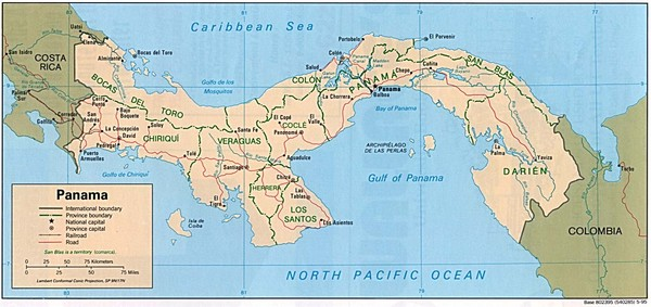 Panama Country Map