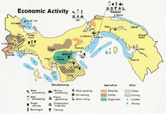 Panama Economic Activity, 1981 Map