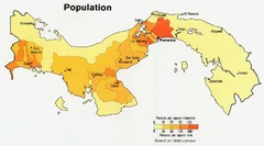 Panama Population Map
