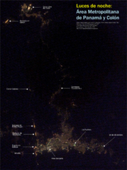 Panama at nite Map