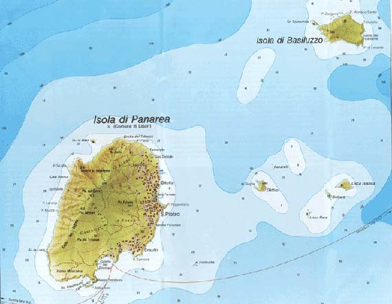 Aeolian islands map aeolians mappery