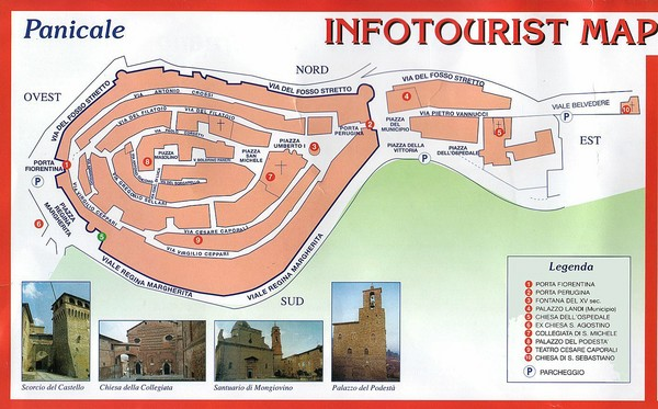 Panicale Tourist Map   Panicale Italy • mappery
