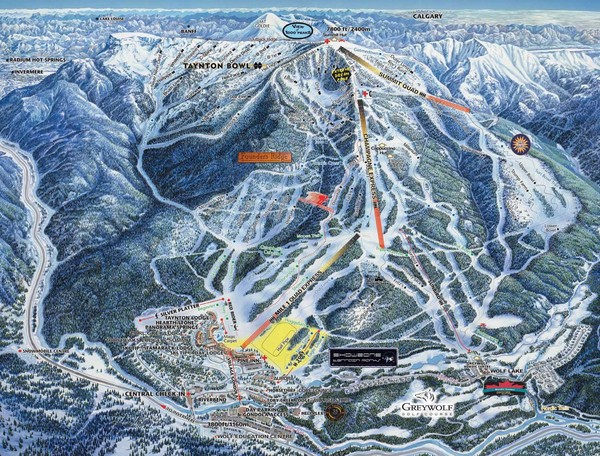 Panorama Ski Area Trail Map