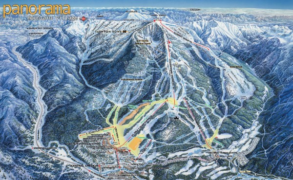 Panorama Ski Trail Map