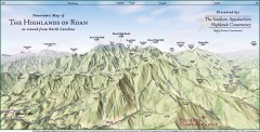 Panoramic Map of the Highlands of Roan (from NC)