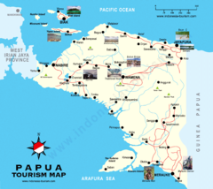 Papua Tourist Map