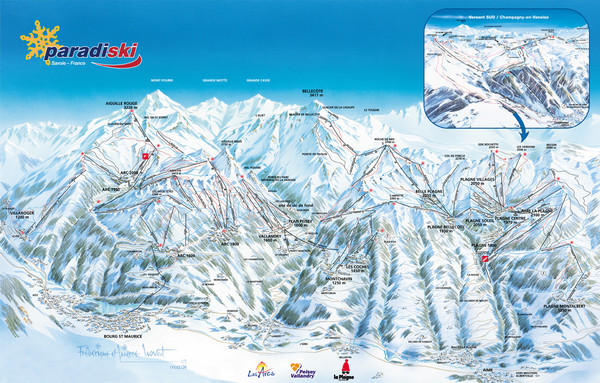 Paradiski Resort Map