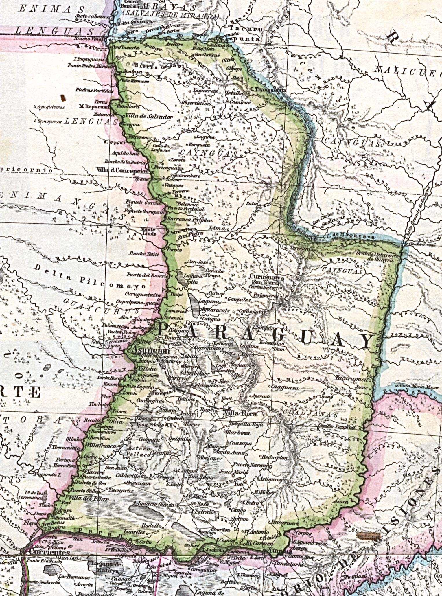 Paraguay Political Map Paraguay Mappery - Map of paraguay