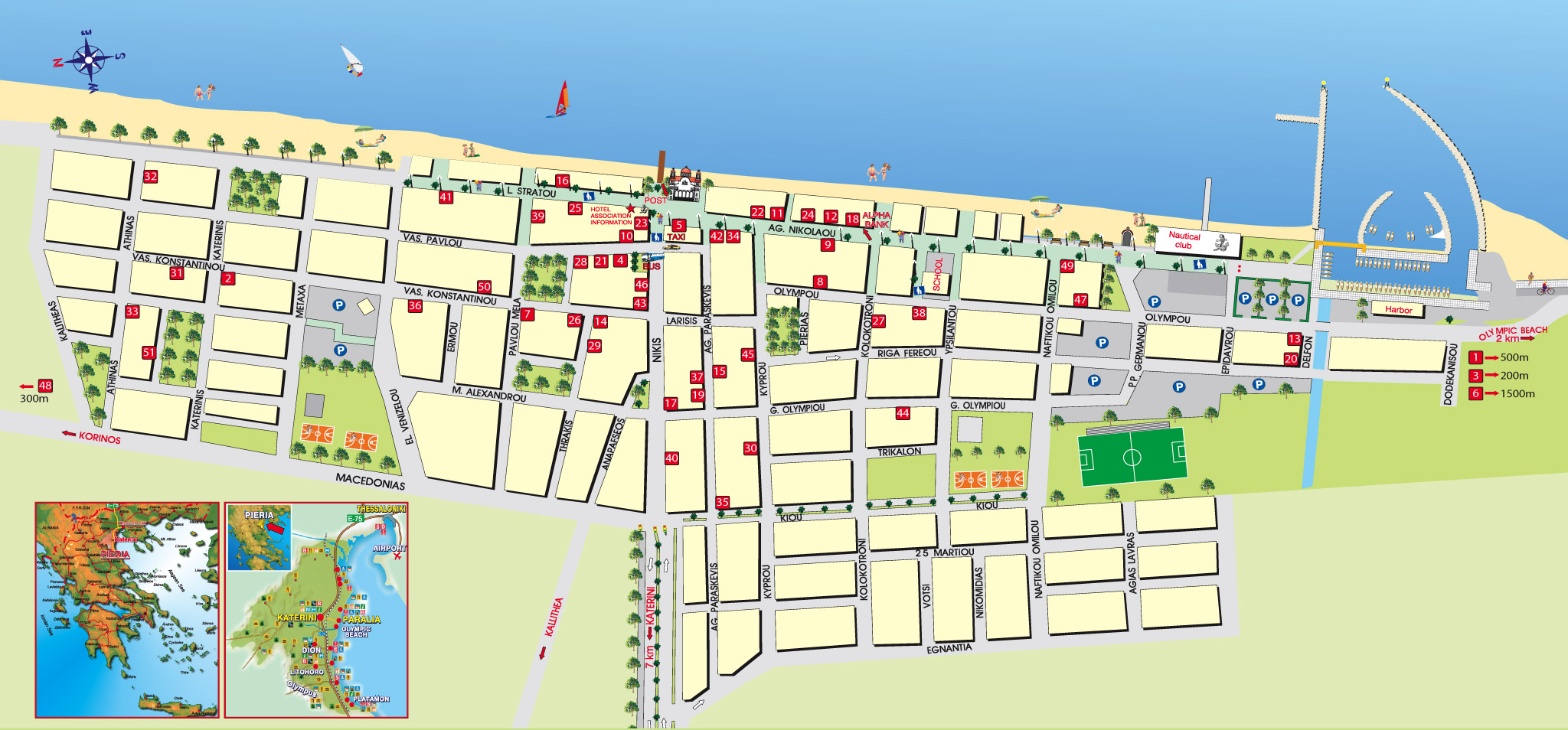 Paralia Tourist Map Paralia Greece Mappery
