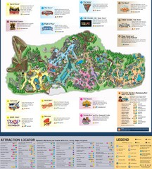 Paramount's Kings Island Map