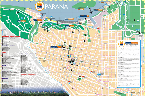 Parana Tourist Map Parana Argentina mappery – Tourist Map of Argentina