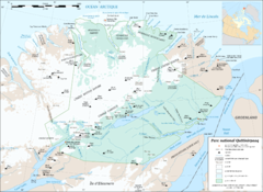 Parc National Quttinirpaaq Map