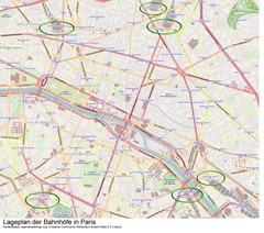 Paris Bahnhöfe Map