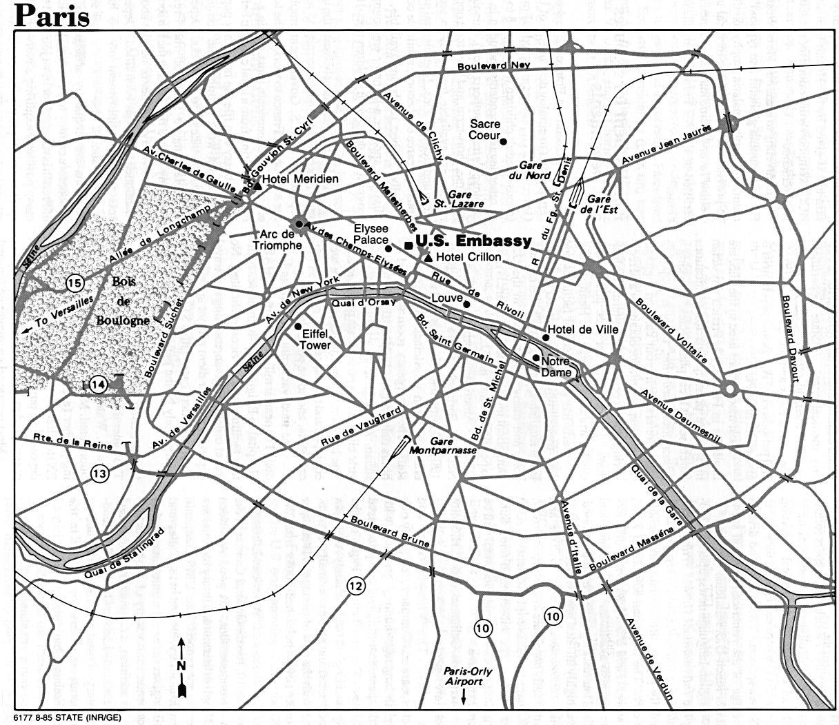 Paris City Map Paris Mappery - Paris map outline
