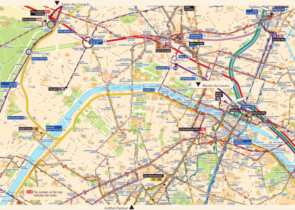 Paris Tourist Map Paris France mappery – Map Of Central Paris Tourist