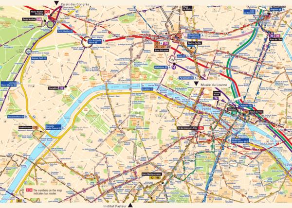 Fullsize Paris City Map