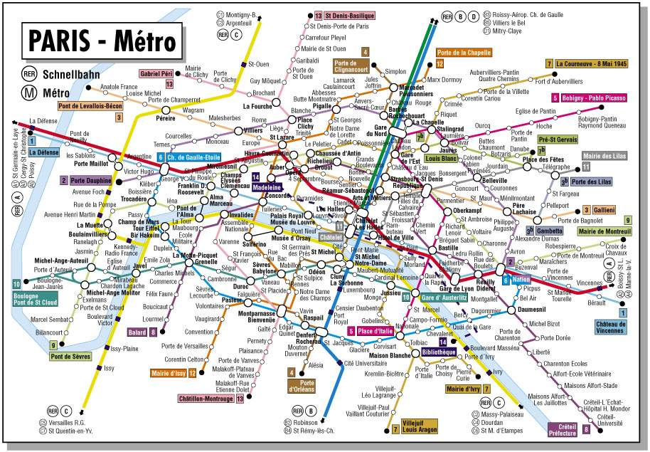 Maps Update 1024604 Travel Map Paris Paris maps Top tourist – Attraction Map of Paris