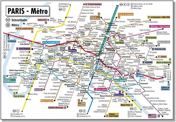 real life map collection mappery – Paris Tourist Map English