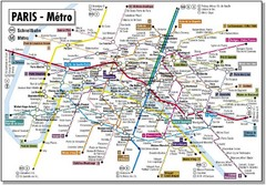 Paris, France Hotel Map