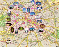 Paris, France Tourist Map