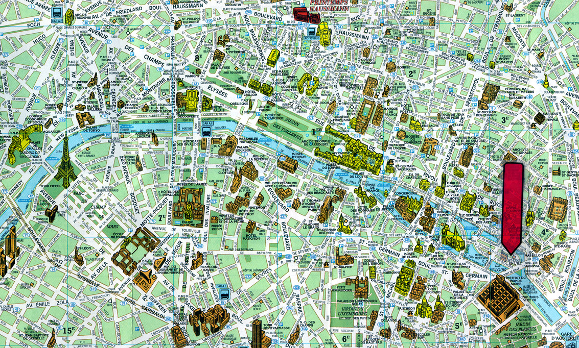 Paris, france tourist map see map details from www.thetravelpeach.com