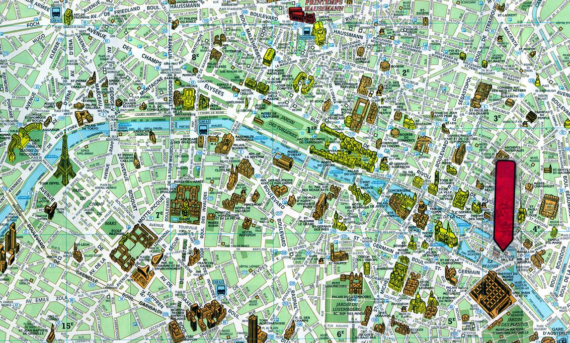 Paris France Tourist Map - Paris France • mappery