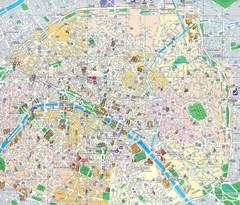 paris france tourist map