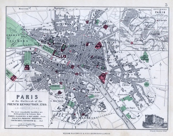 Paris Historical Map - Paris France • mappery