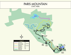 Paris Mountain State Park Map