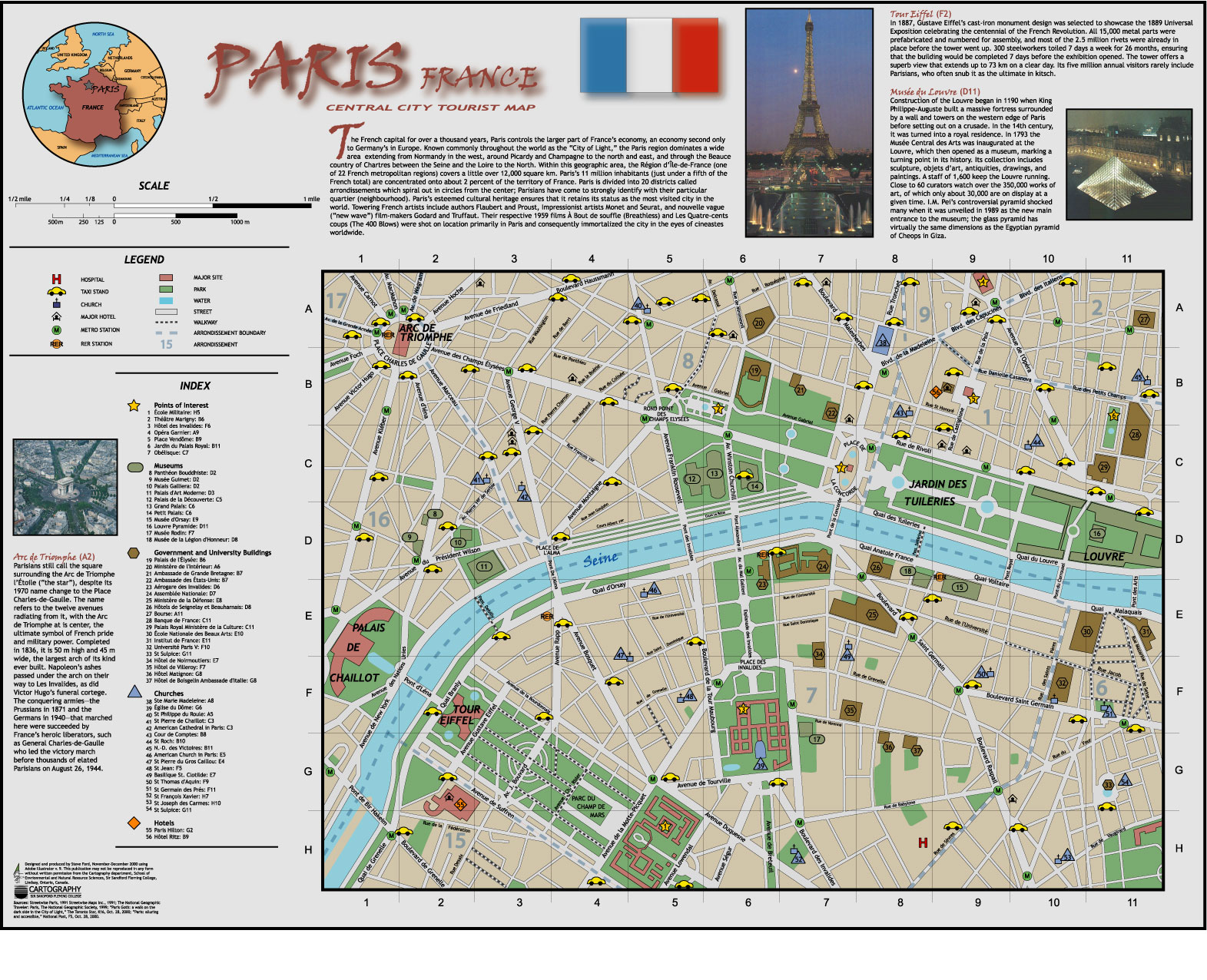 Map Of France Tourist Attractions.Attraction Map Of Paris Paris France Tourist Attractions Map Paris