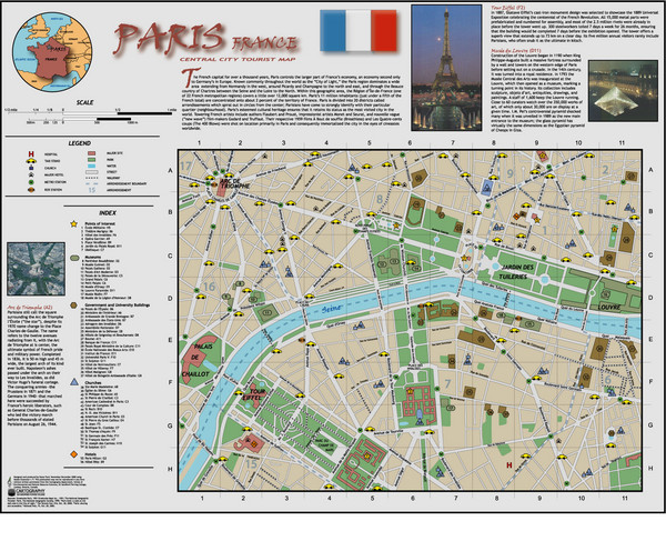 Paris maps mappery – Tourist Attractions Map In Paris