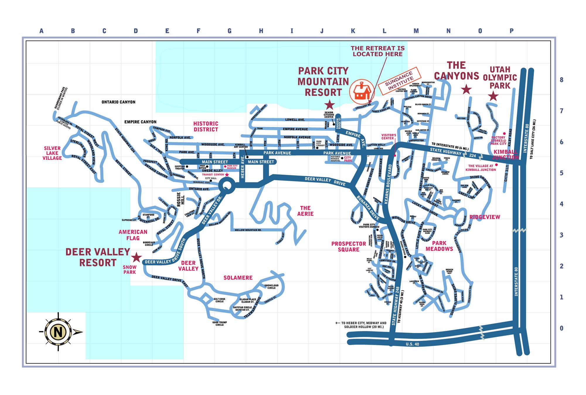 Park City Map Park City Utah USA Mappery - Usa utah map