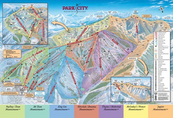 Park City Ski Trail Map