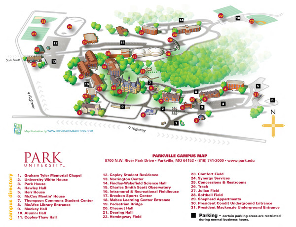 Park University Map 8700 Nw River Park Drive Parkville Mo Mappery