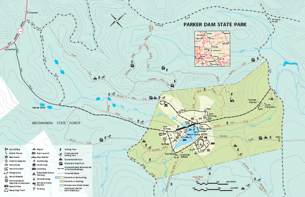 Parker Dam State Park Map