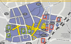 Parking Spots in Downtown Gutersloh Map