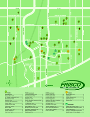 Parks in Frisco, Texas Map
